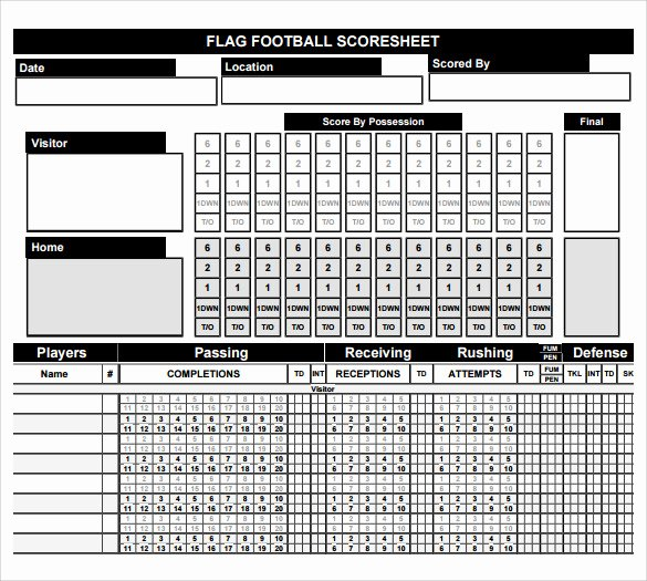 Football Stat Sheet Template Excel New 27 Of Football Game Sheet Template