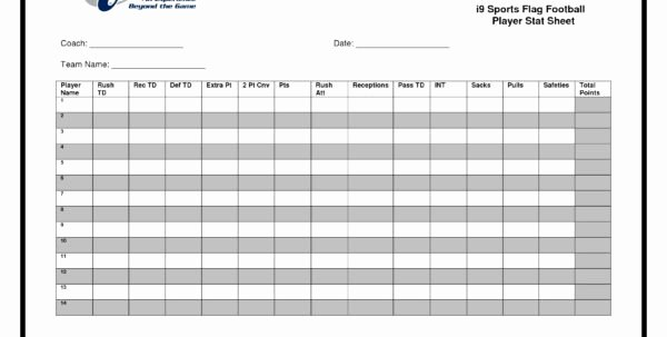 Football Stats Sheet Excel Template Best Of Football Statistics Excel Spreadsheet Printable Spreadshee