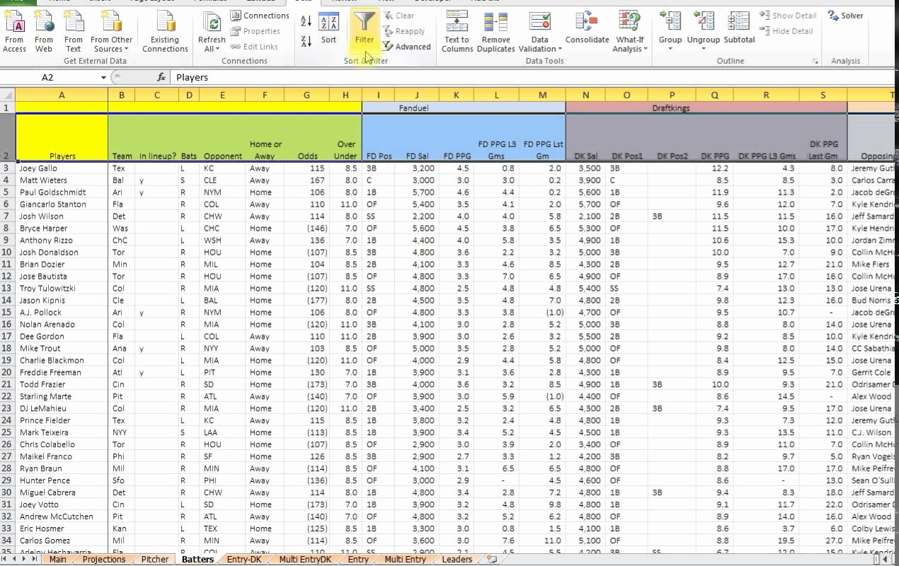 Football Stats Sheet Excel Template New Basketballstics Sheet Excel Free Baseball Spreadsheet