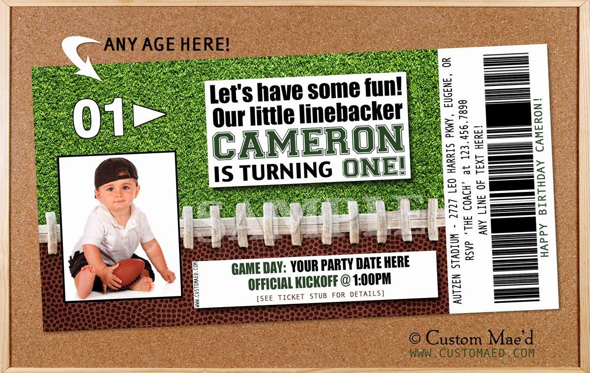Football Ticket Birthday Invitations Fresh Football Party Decorations Archives Custom Mae D