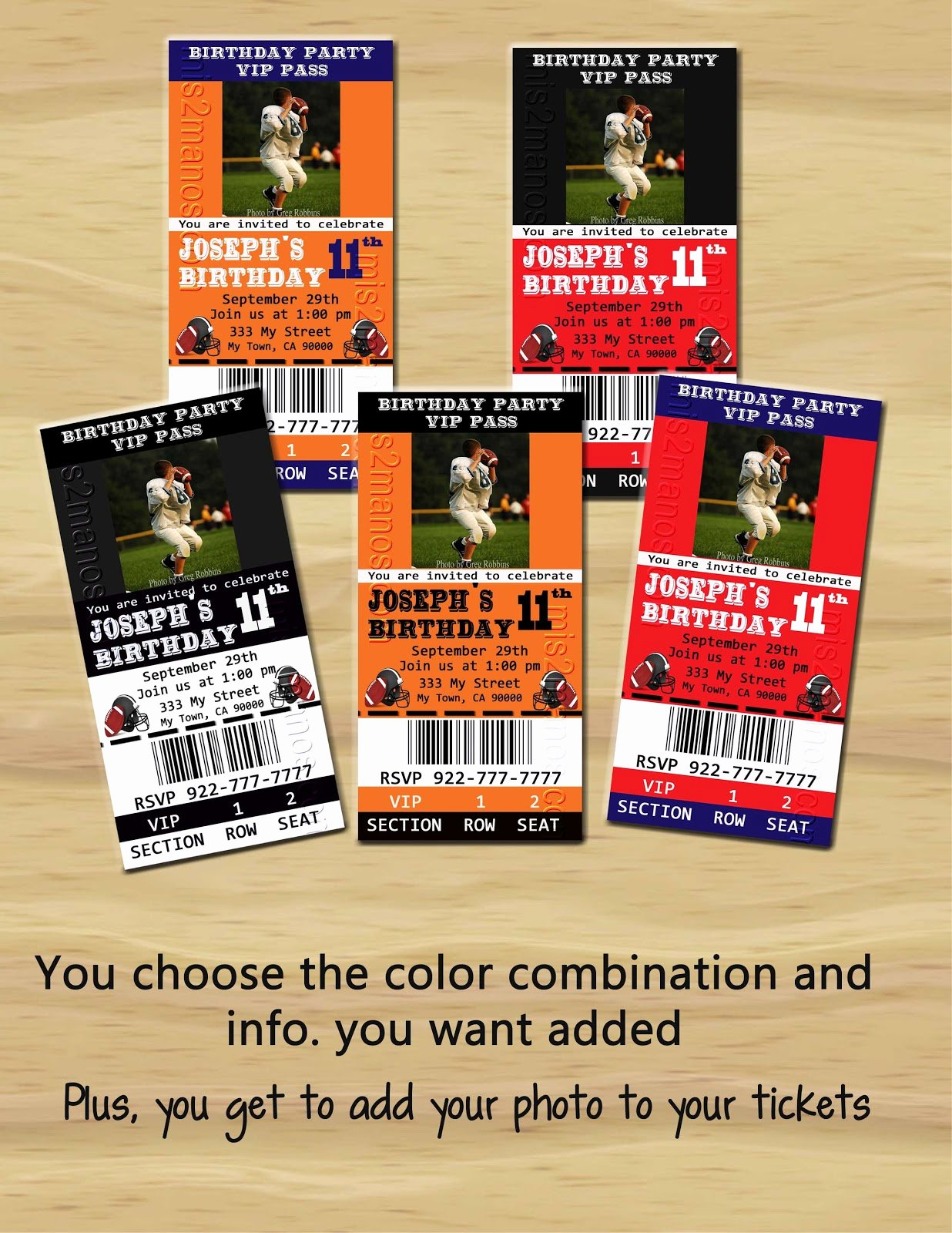 Football Ticket Birthday Invitations Lovely Mis 2 Manos Made by My Hands Football Party Ticket