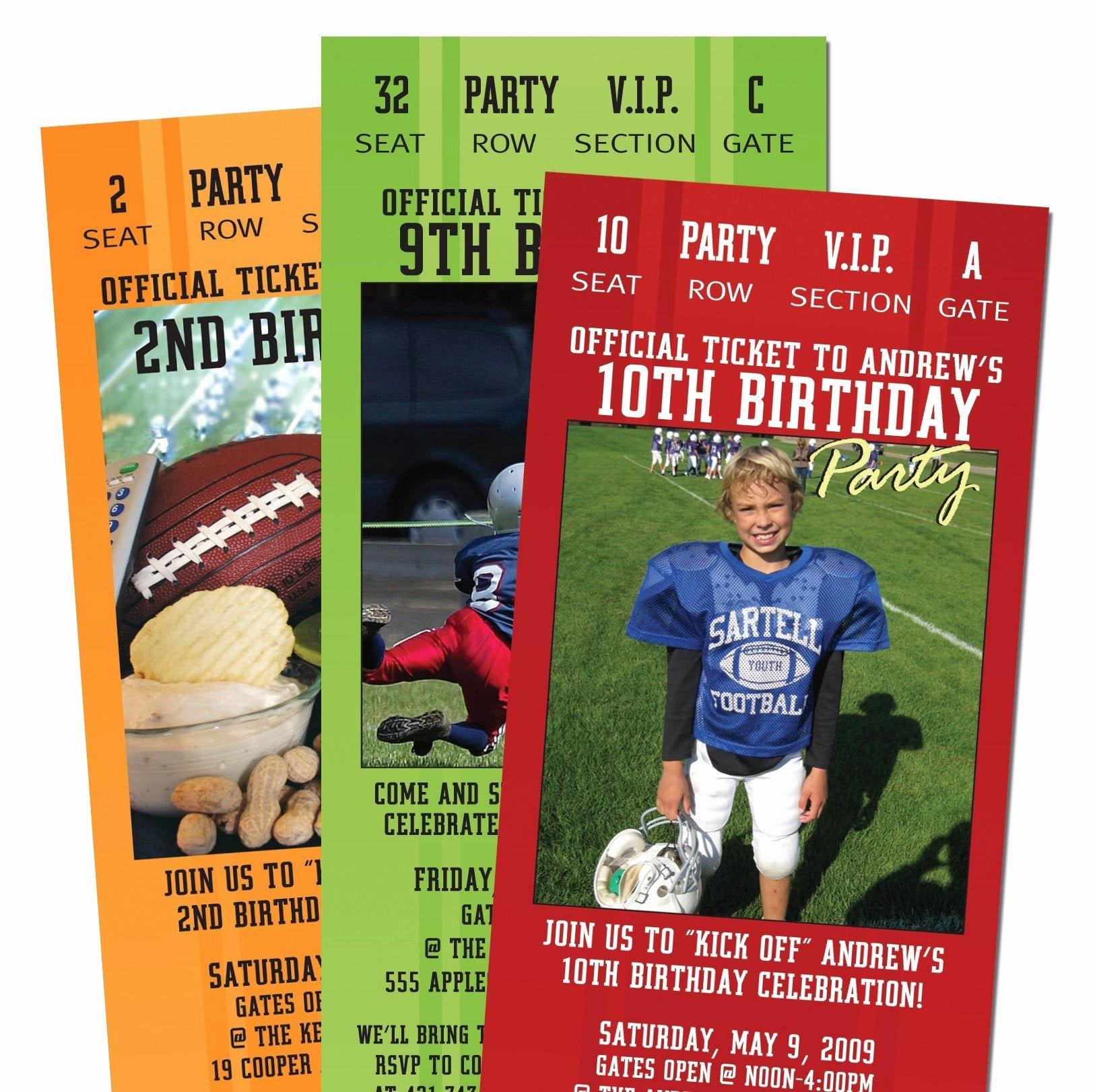 Football Ticket Birthday Invitations New 15 Football Ticket Party Invitations for Adult or