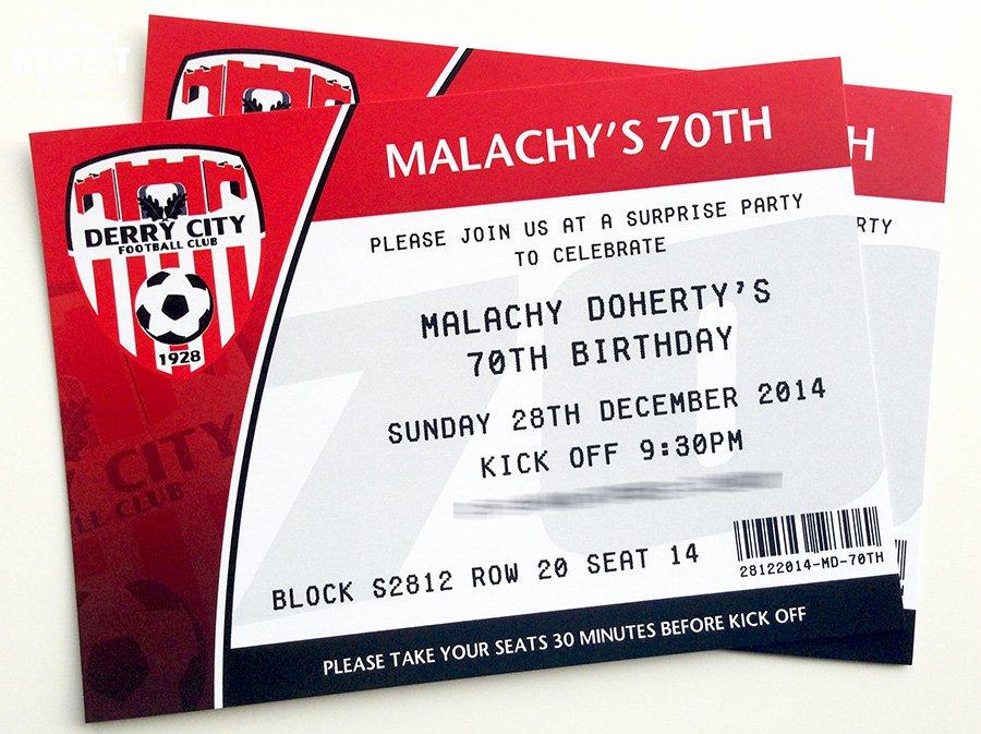 Football Ticket Birthday Invitations Unique Football themed Wedding Stationery