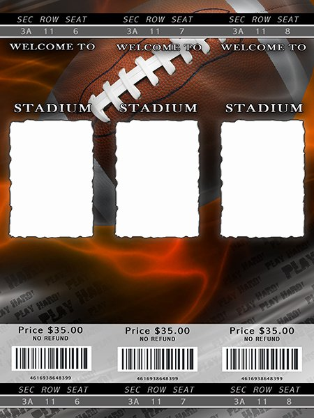 Football Ticket Template Awesome Football Templates