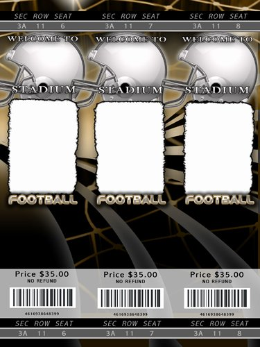 Football Ticket Template Beautiful Football Templates
