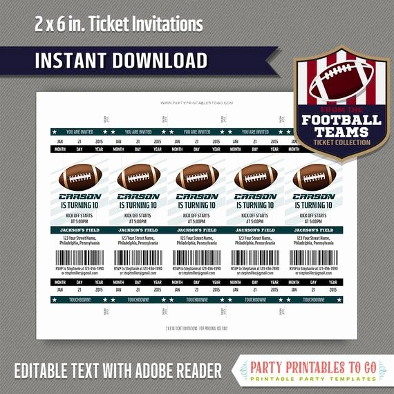 Football Ticket Template Best Of Football Ticket Invitation Template Green and Black