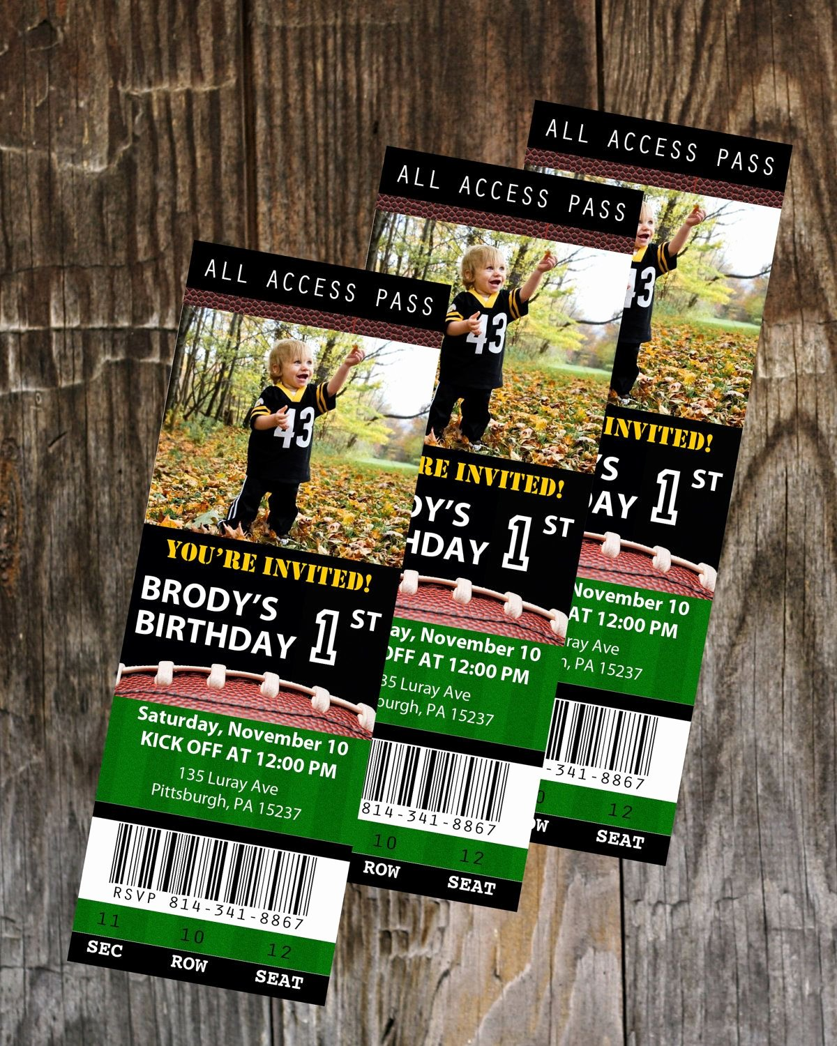 Football Ticket Template Elegant Football Ticket Birthday Invitation Template Instant