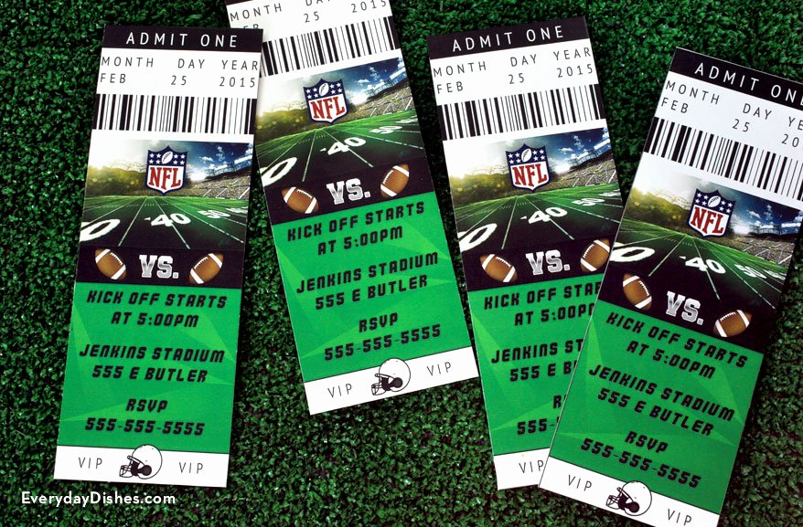 Football Ticket Template Fresh Football Ticket Invitations Printable Everyday Dishes & Diy