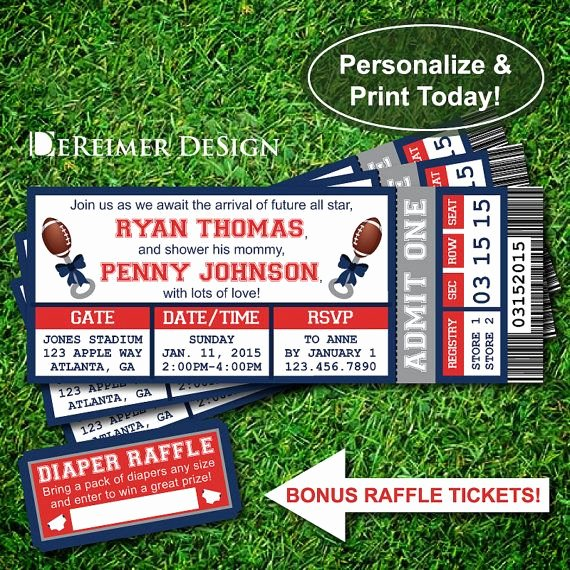 Football Ticket Template Luxury 17 Best Ideas About Diaper Raffle Wording On Pinterest