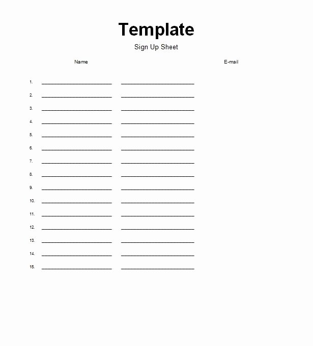 For Sale Sign Template Microsoft Word Fresh Sign Up Sheet Template