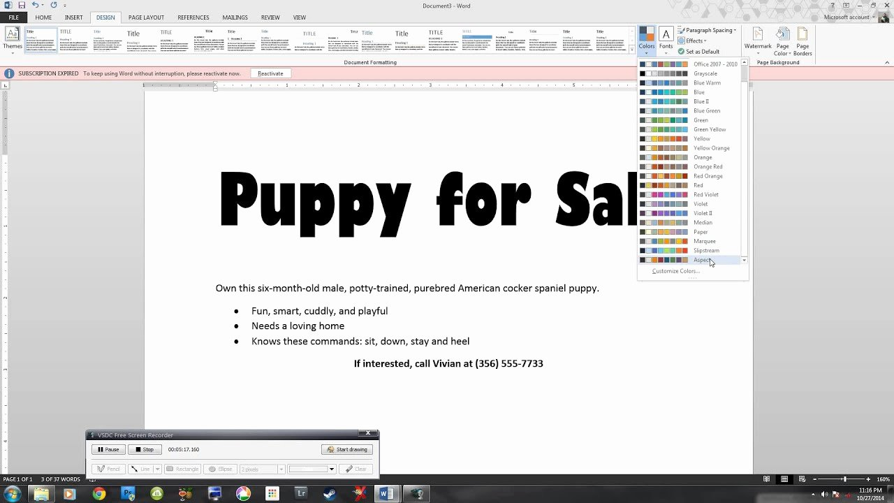 For Sale Sign Template Microsoft Word Inspirational Microsoft 2013 Essential Word Lab 1 Puppy Flyer