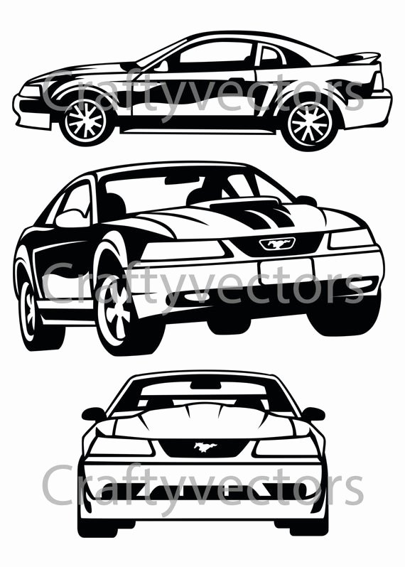 Ford Mustang Logo Vector Elegant ford Mustang 99 Vector File