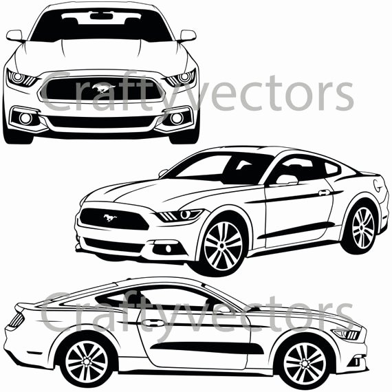 Ford Mustang Logo Vector Unique ford Mustang 2015 Vector Svg Cut File