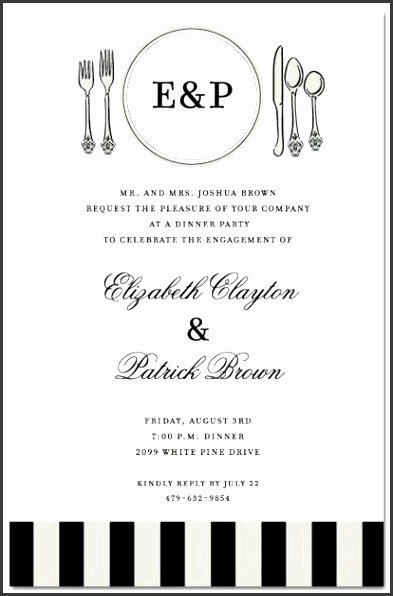 Formal Dinner Invitation Template Beautiful 6 Business Dinner Invitation Template Free
