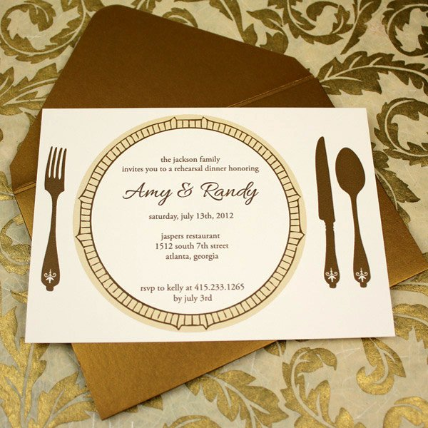 Formal Dinner Invitation Template Best Of Invitation Template – Elegant Rehearsal Dinner Invitation