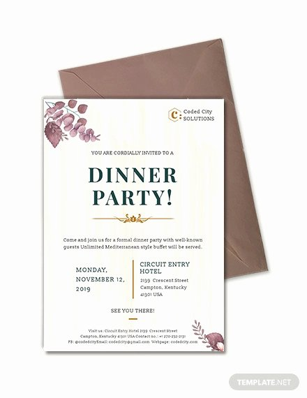 Formal Dinner Invitation Template Elegant 59 Invitation Templates Psd Ai Word Indesign