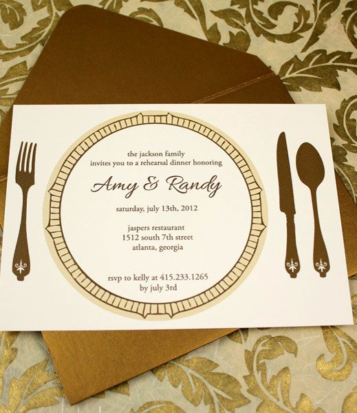 Formal Dinner Invitation Template Elegant Invitation Template – Elegant Rehearsal Dinner Invitation