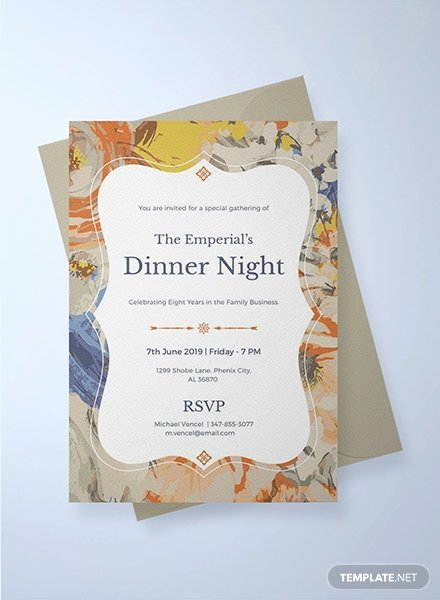 Formal Dinner Invitation Template Inspirational Free Gala Dinner Night Invitation Template Download 344