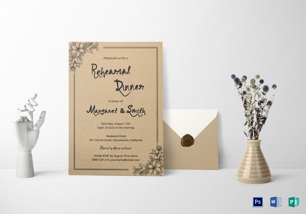 Formal Dinner Invitation Template Lovely 61 formal Invitation Templates Psd Word Ai Pages