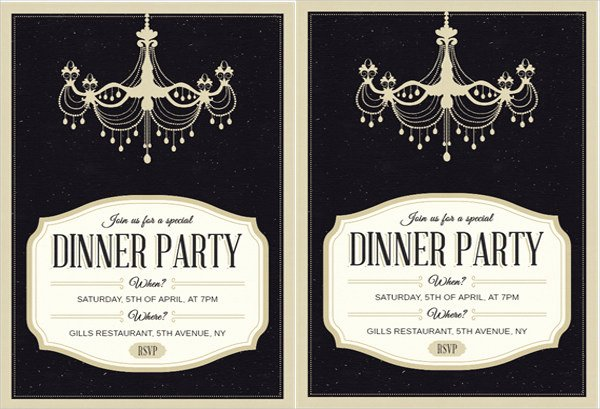 Formal Dinner Invitation Template Lovely 62 Printable Dinner Invitation Templates Psd Ai Word