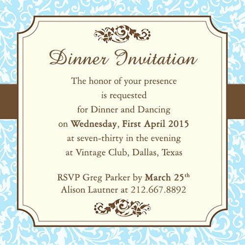 Formal Dinner Invitation Template Lovely Fab Dinner Party Invitation Wording Examples You Can Use