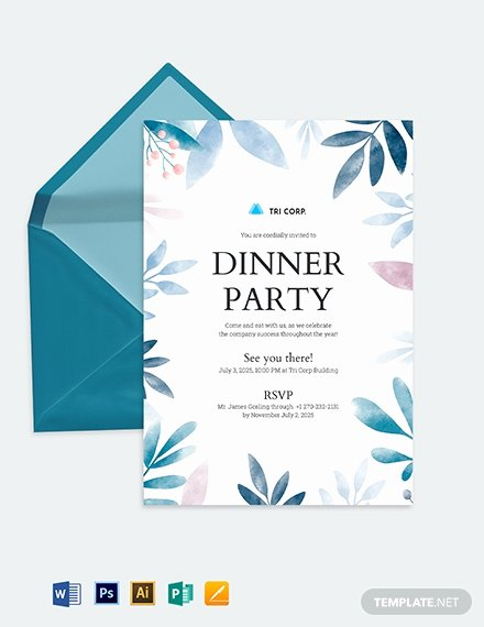 Formal Dinner Invitation Template Luxury formal Invitation Template Download 227 Invitations In