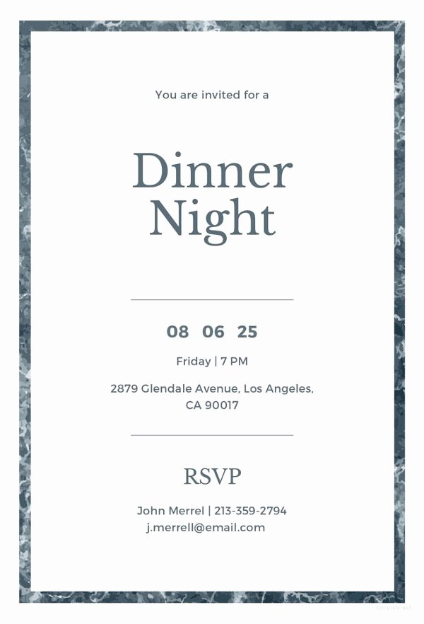 Formal Dinner Invitation Template New 47 Dinner Invitation Templates Psd Ai