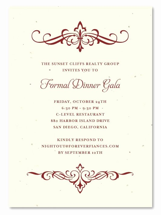 Formal Dinner Invitation Template Unique 31 Best Images About Plantable Gala Business Invitations
