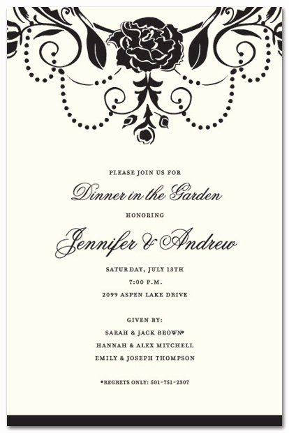Formal Dinner Invitation Template Unique formal Party Invitation Wording