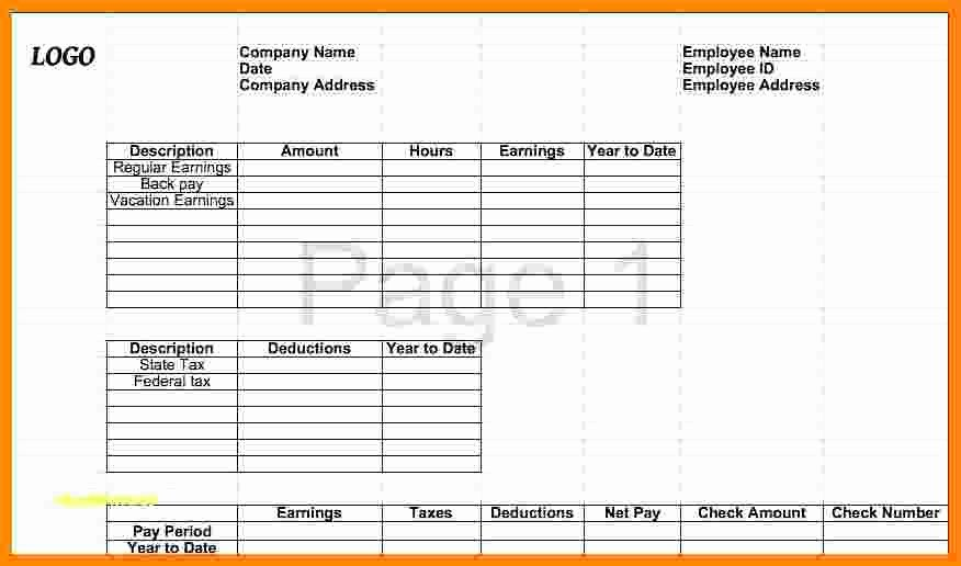 Free 1099 Pay Stub Template Awesome 9 Free 1099 Pay Stub Template