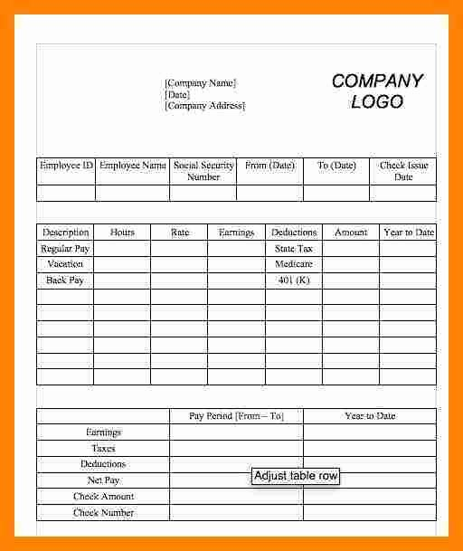 Free 1099 Pay Stub Template Elegant 5 1099 Pay Stub Template