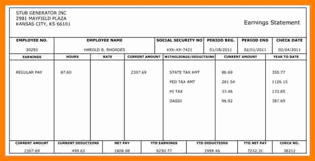 Free 1099 Pay Stub Template Luxury 9 Pay Stub for Independent Contractor Template