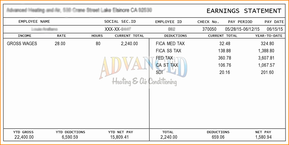 Free 1099 Pay Stub Template Unique 6 Pay Stub Template for 1099 Employee