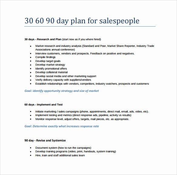 Free 30 60 90 Day Plan Template Word Elegant 20 30 60 90 Day Plan Samples Pdf Word