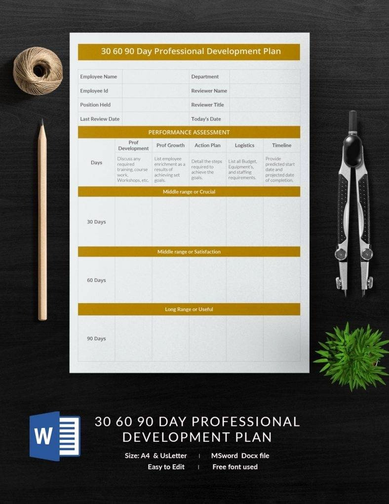 Free 30 60 90 Day Plan Template Word Lovely 12 Free 30 60 90 Day Plan Templates In Word