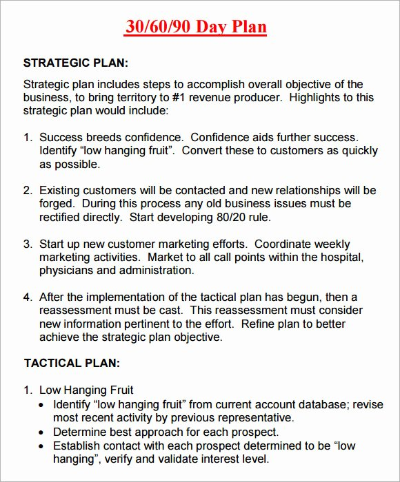 Free 30 60 90 Day Plan Template Word New 14 Sample 30 60 90 Day Plan Templates Word Pdf