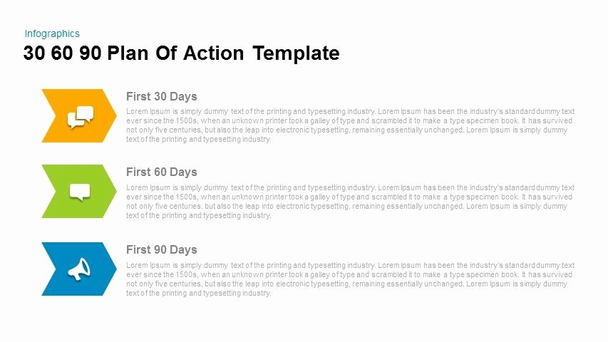 Free 30 60 90 Day Plan Template Word Unique 30 60 90 Plan Action Powerpoint and Keynote Template