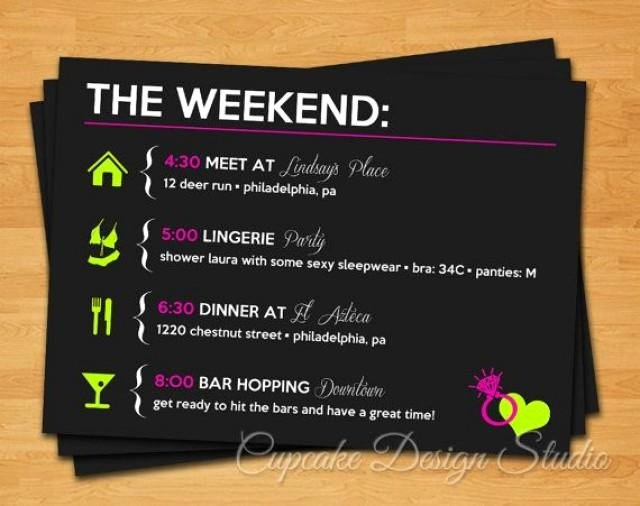 Free Bachelorette Itinerary Template Awesome Printable Bachelorette Party Itinerary Lucky In Love