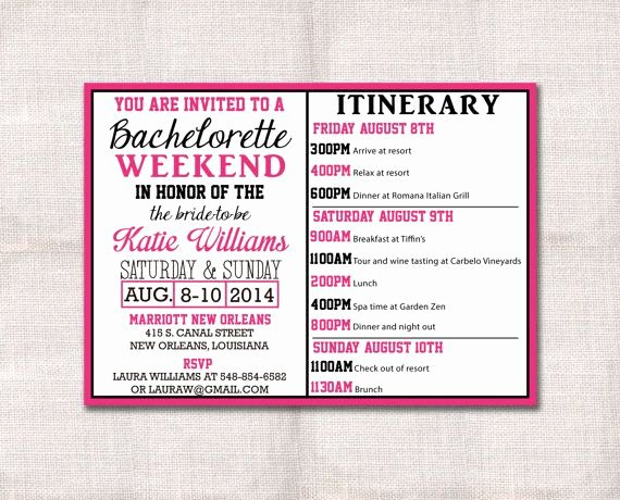 Free Bachelorette Itinerary Template Elegant 85 Best Images About Bridal Shower On Pinterest