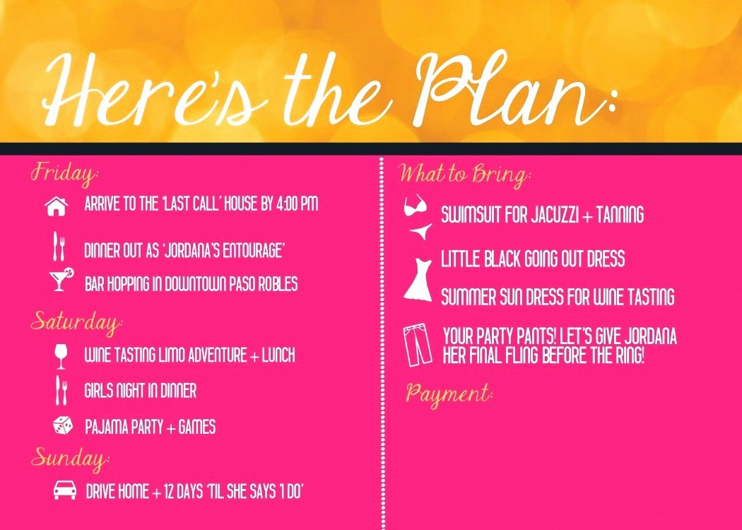 Free Bachelorette Itinerary Template Elegant Coloring orange Bachelorette Invitation Wine Tasting