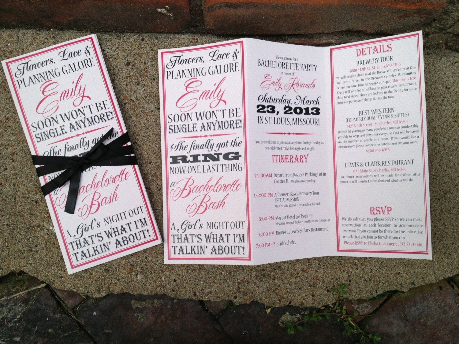 Free Bachelorette Itinerary Template Inspirational Bachelorette Party Invite Trifolded Itinerary