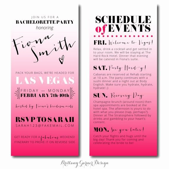 Free Bachelorette Itinerary Template Lovely 17 Best Images About Bachelorette Invites On Pinterest