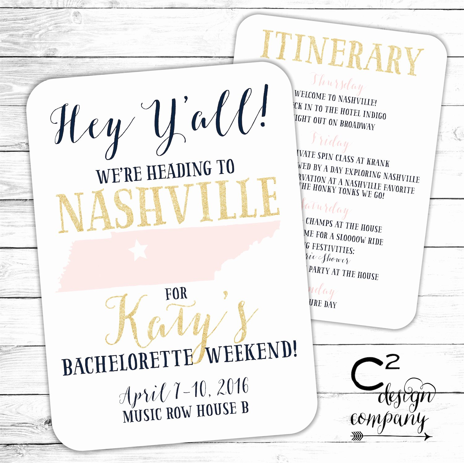 Free Bachelorette Itinerary Template Lovely Nashville Bachelorette Party Invitation with Itinerary