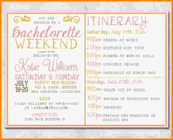 Free Bachelorette Itinerary Template Luxury 17 Best Ideas About Bachelorette Itinerary On Pinterest