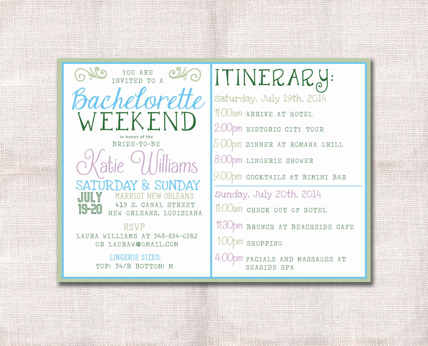Free Bachelorette Itinerary Template New Bachelorette Party Weekend Invitation and by Darlinbrandopress