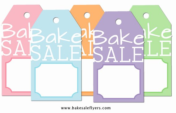 Free Bake Sale Template Awesome Free Printable Bake Sale Tags