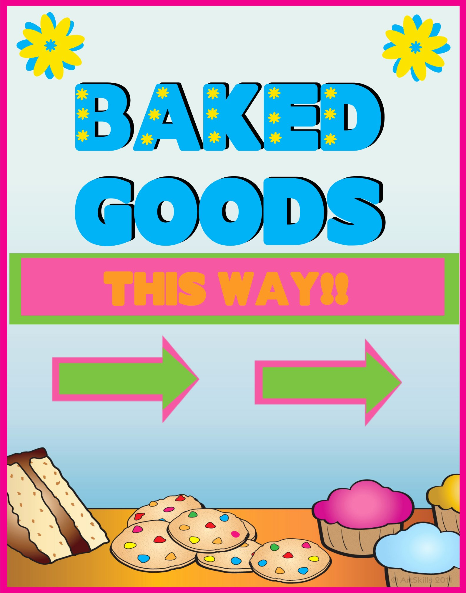 Free Bake Sale Template Awesome Line Poster Gallery Poster Project Ideas