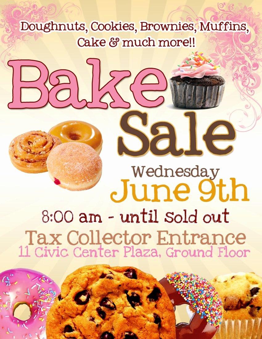 Free Bake Sale Template Best Of Bake Sale Flyer Template Free Cakepins
