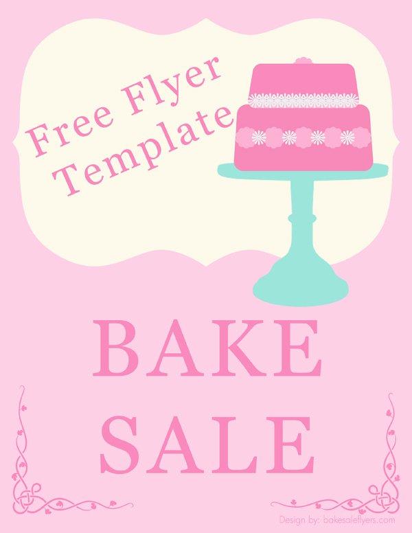 Free Bake Sale Template Elegant Bake Sale Flyers – Free Flyer Designs