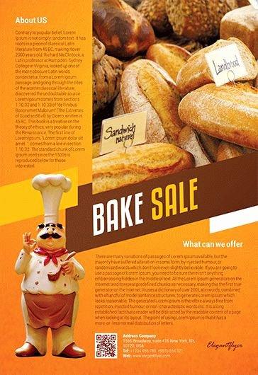 Free Bake Sale Template Fresh Free Bake Sale Flyer Template In Shop – by Elegantflyer